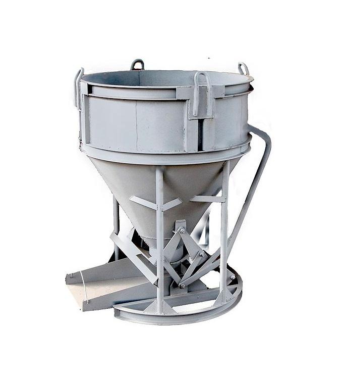 Бадья для бетона вертикальная БН-1м3 (под лоток)